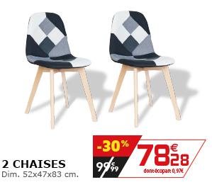 2 chaises