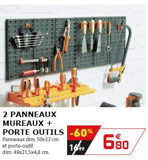 2 panneaux mureaux + porte outils