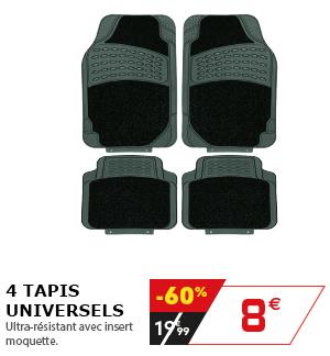 4 tapis universels